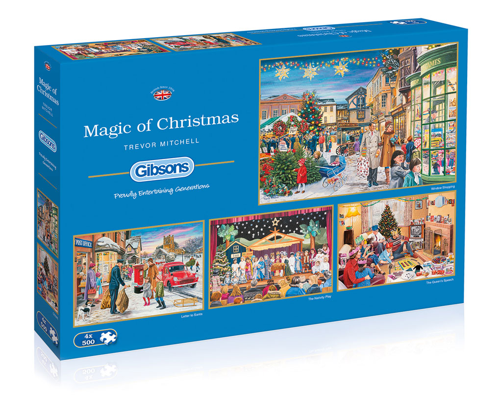 gibsons magic of christmas legpuzzels kerstpuzzels