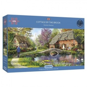 Gibsons: Cottage by the Brook - Dominic Davison (636) panoramapuzzel