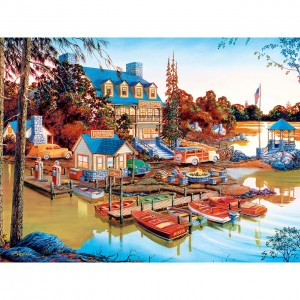 Master Pieces: Country Escapes - Peaceful Easy Evening (550) legpuzzel