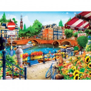 Master Pieces: Travel Diary - Amsterdam (550) legpuzzel