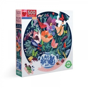 Eeboo: Still Life with Flowers (500) ronde puzzel