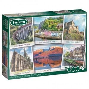 Falcon: Greetings from Scotland (1000) legpuzzel