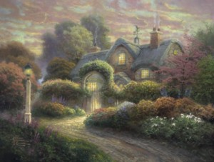 Thomas Kinkade: Rosebud Cottage (1000)