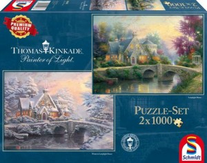 Thomas Kinkade: Lamplight Manor en Winter in Lamplight Manor (2x1000)