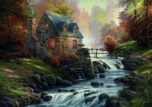 Thomas Kinkade: Near the old Mill (1000)