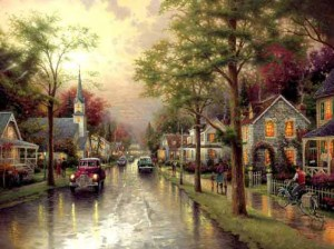 Thomas Kinkade: Hometown Morning (1000)