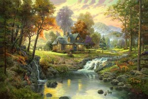 Thomas Kinkade: Mountain Retreat (1000)