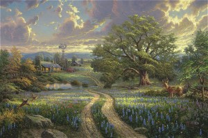 Thomas Kinkade: Country Living (1000)