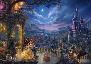 Thomas Kinkade: Disney - Beauty and the Beast Dancing in the Moonlight (1000)