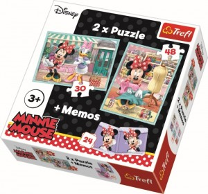 Trefl: Disney Minnie Mouse 2in1 + memory (30/48)