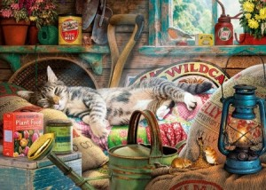Gibsons: Snoozing in the Shed (1000) legpuzzel