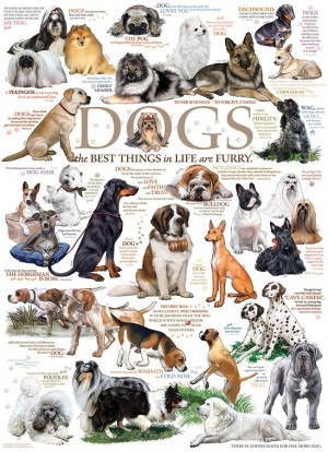 Cobble Hill: Dogs Quotes (1000) Verticale legpuzzel