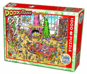 Cobble Hill: Doodletown - Elves at work (1000) legpuzzel