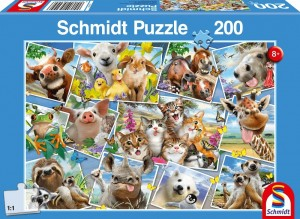 Schmidt: Animal Selfies - kinderpuzzel (200)