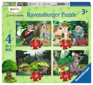 Ravensburger: In het Sprookjesbos 4in1 (12/16/20/24) kinderpuzzel
