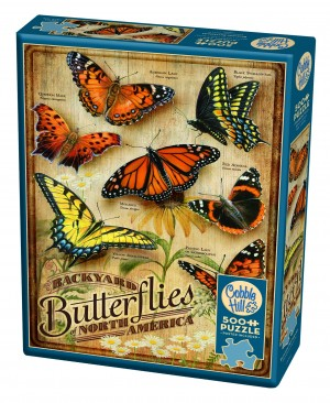 Cobble Hill: Backyard Butterflies (500) Verticale legpuzzel