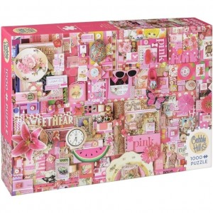 Cobble Hill: Pink - Shelley Davies (1000) legpuzzel
