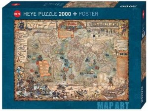 Heye: Map Art - Pirate World (2000) legpuzzel