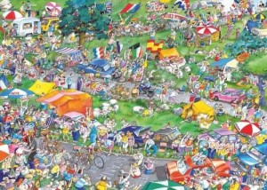 Heye: Blachon - Cycle Race (1000) legpuzzel