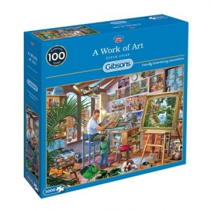 Gibsons: A Work of Art - Steve Crisp (1000) legpuzzel