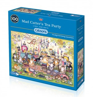 Gibsons: Mad Catter's Tea Party - Linda Jane Smith (1000) puzzel