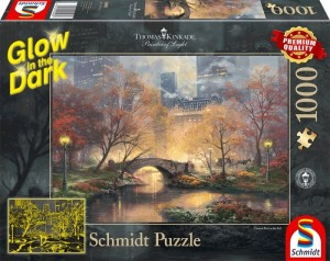 Schmidt: Thomas Kinkade - Central Park in de herfst (1000) glow in the dark