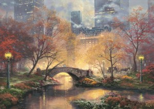 thomas kinkade 59496 central park in de herfst puzzel