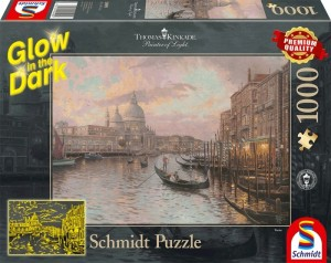Schmidt: Thomas Kinkade - In de straten van Venetië (1000) glow in the dark