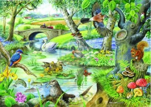 House of Puzzles: Tales of the River (500XL) legpuzzel