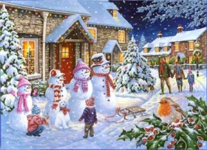 House of Puzzles: Snow Family (1000) winterpuzzel