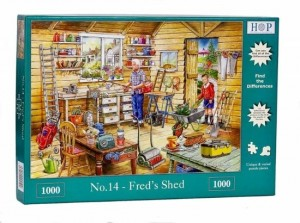 House of Puzzles: Find the Differences Nr 14 Fred's Shed (1000)
