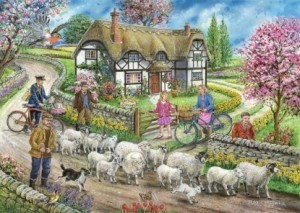House of Puzzles: Daffodil Cottage (1000) legpuzzel