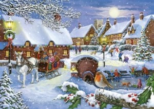 House of Puzzles: Sleigh Ride (1000) winterpuzzel