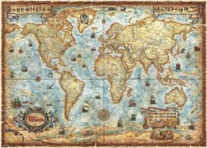 Heye: Map Art - The World (2000) legpuzzel
