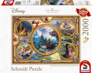 Schmidt: Thomas Kinkade - Disney Collage (2000) legpuzzel