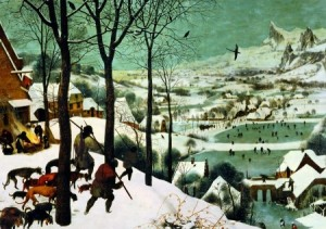Piatnik: Pieter Bruegel - Hunters in the Snow (1000) kunstpuzzel