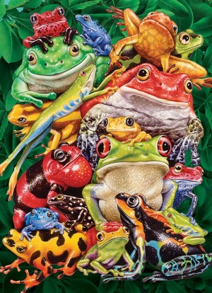 Cobble Hill: Frog Business (1000) verticale puzzel