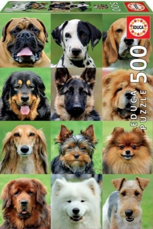 Educa: Dogs Collage (500) verticale puzzel