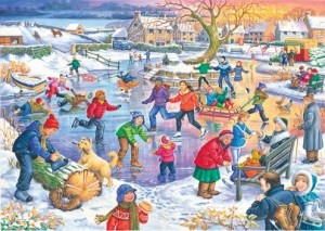 House of Puzzles: Ice Skating (500XL) winterpuzzel