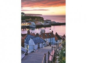 Wentworth: Whitby Harbour, Summer Twilight (40) houten mini puzzel