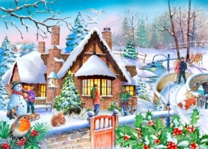 House of Puzzles: Snowy Cottage (250XL) winterpuzzel