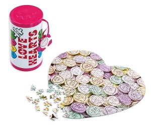 Gibsons: Swizzels Love Hearts (250) in tinnen blik, shaped puzzel