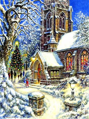 SunsOut: Church in the Snow (1000) kerstpuzzel