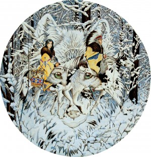 SunsOut: Keeper of the Wolf (1000) ronde puzzel