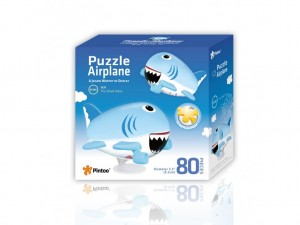 Pintoo: Airplane - Shark (80) 3D kinderpuzzel