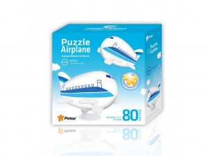 Pintoo: Airplane - Sky Blue Airline (80) 3D kinderpuzzel