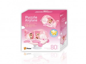Pintoo: Airplane - Romantic Vacations (80) 3D kinderpuzzel