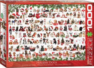 Eurographics: Holiday Dogs (1000) kerstpuzzel