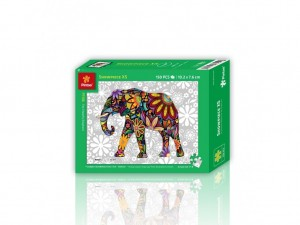 Pintoo: The Cheerful Elephant (150) plastic minipuzzel