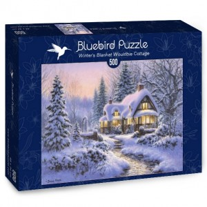 Bluebird: Winter's Blanket Wouldbie Cottage (500) winterpuzzel